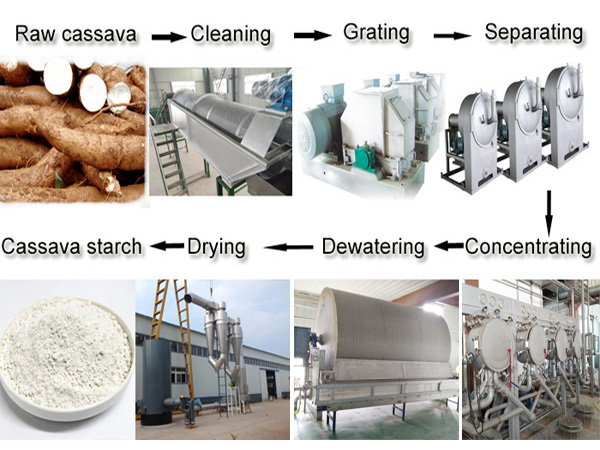 Cassava starch extraction plant