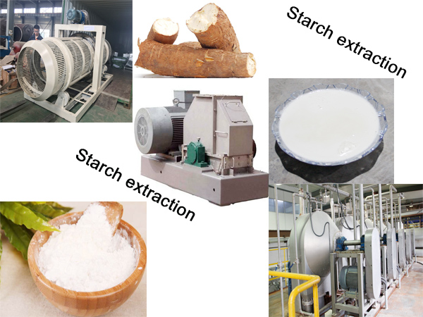 Cassava starch extraction process