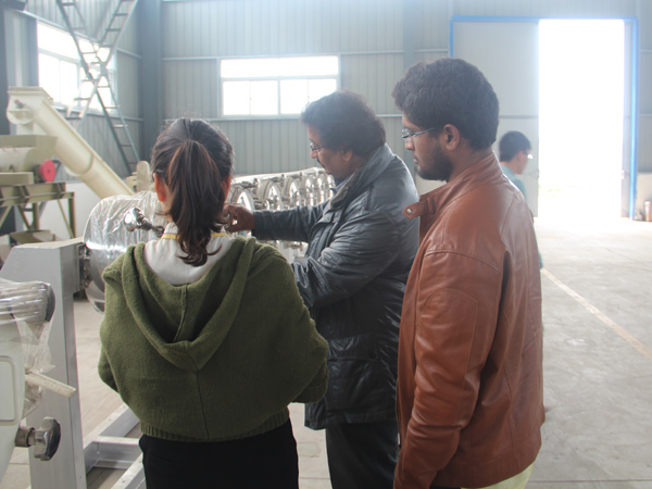 Indian clients visit DOING cassava starch machine