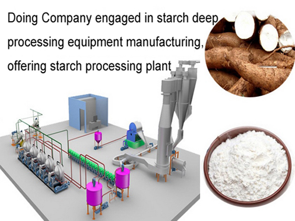 Cassava starch making production plant