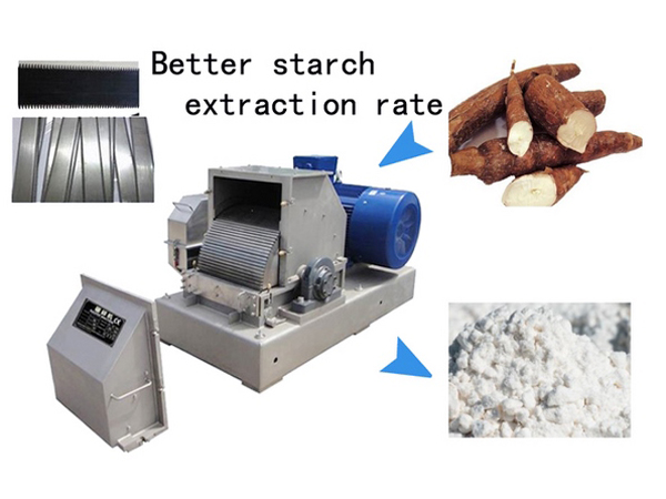 How to improve starch extraction rate in cassava processing?