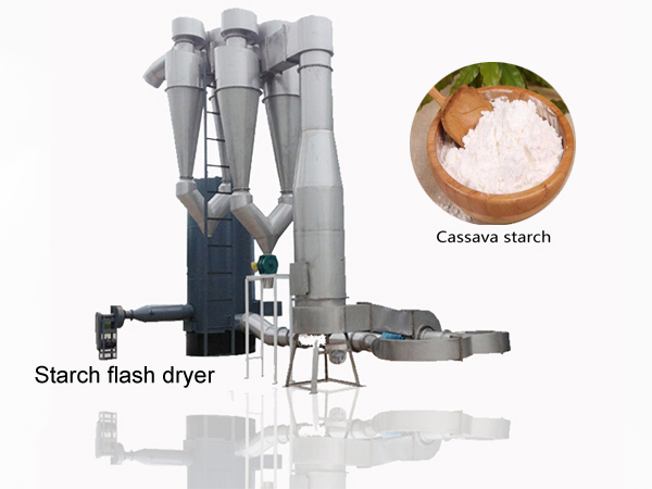 How to dry cassava starch ?